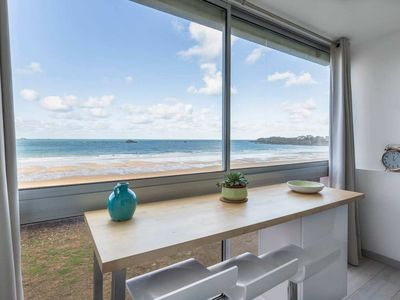 Photo for 180 degree sea view - Direct beach access - 2-4p