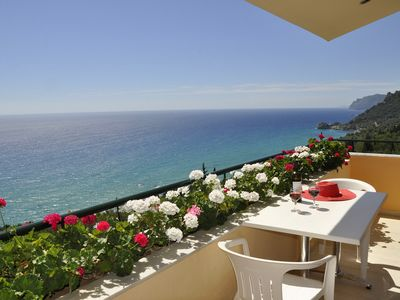 Photo for Best sea view ever from 2 balconies