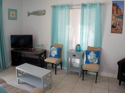 Photo for Updated, gulf front condo, Beach setup included, Close to entertainment