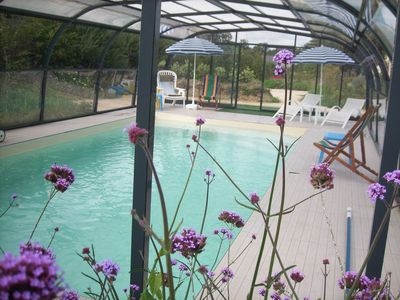 Photo for ecogite 6 / 8pers heated pool axis St Malo equipped babies access handicaps