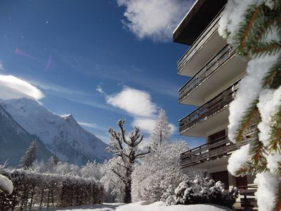 Photo for CHAMONIX 40m2- Exceptional view of the MONT-BLANC range