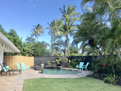 Photo for Gorgeous newly renovated home with tropical landscaping and a pool!