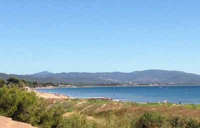 Photo for Beautiful T2, feet in the water, with a breathtaking view of the bay of Hyeres