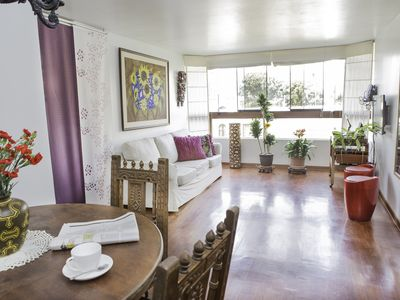 Photo for MIRAFLORES Amazing Flat /beach/ Jacuzzi/up to 6/ family/ friendly/tidy & clean