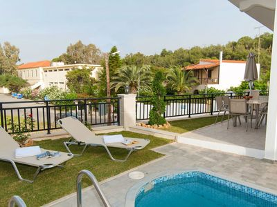 Photo for Wonderful private villa for 4 guests with A/C, private pool, WIFI, TV and balcony
