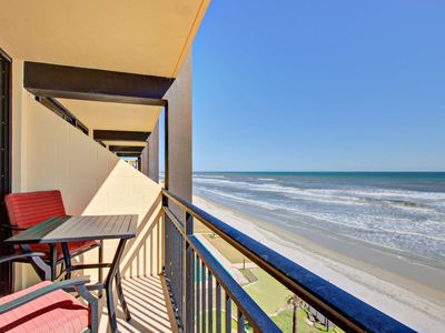 Photo for Budget Friendly Couples Get-Away, 4th Floor Direct OceanFront w/ Private Balcony-Cable TV, FREE WIFI