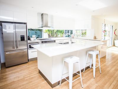 Photo for Walking distance to Cabarita Beach and shops, light bright beach house with pool
