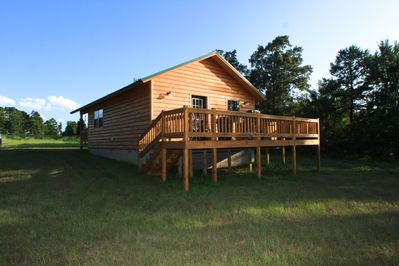 back view of the cabin
