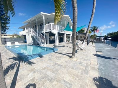 Photo for Key Largo Bayside Canal Front Home with Private Pool, Boat Ramp & Dockage!