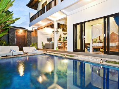 Photo for VILLA ORIA DUA·  Best location in the heart of Legian.   Close to Legian shopping, Double Sixe Beach & Bintang Supermarket.  Sleeps 6 pax.