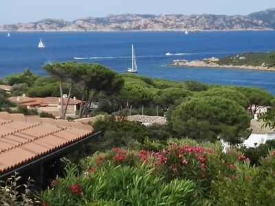 Photo for Apartment with pool and terrace with panoramic views of the Maddalena Archipelago