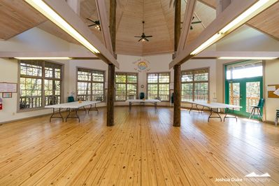 Our Ewing Center can be a large meeting space, dance floor, or dining hall!