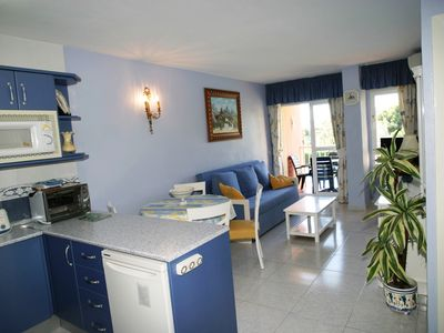 Photo for Bright sunny apartment overlooking pool Sea & Mountain. Near Beach Train station