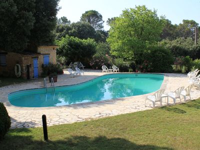 Photo for Les Messugues, Mas in Provence with shared pool, nature, calm, space
