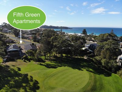 Photo for Quiet 2 Bedroom Apartment right on Mollymook Golf Course 100 metres to the Beach