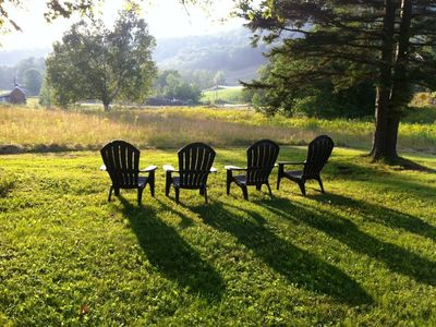 Photo for Log Home Overlooking Black Mountain - Storyland Minutes Away Dogs Welcome