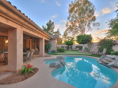 Photo for Brand new remodel, gourmet kitchen, 4 bedrooms , pool with spa,gated community