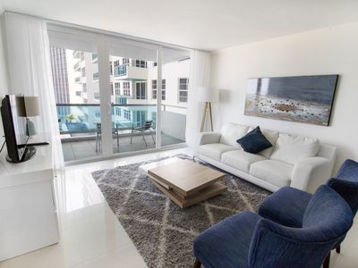 Photo for OCEANFRONT BLDG, DELUXE 2BR for 6, PRIVATE BEACH, GYM, POOL, TENNIS COURTS