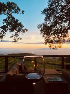 Our guest sent us this wonderful photo of the front deck while enjoyong her wine