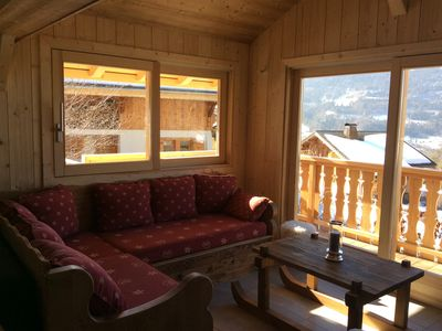 Photo for South facing chalet with views of the Giffre Valley