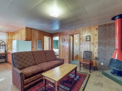 Photo for Dog-friendly cabin w/ shared hot tub, kitchen, entertainment & ski access nearby