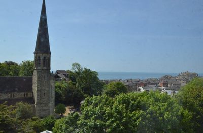 Views of Ventnor and the sea from the lounge