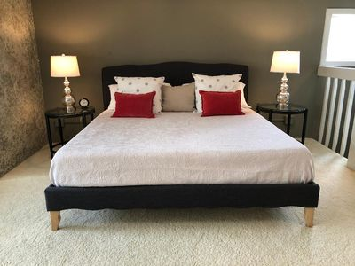 Upstairs Master Suite with King Bed and 2 Adjustable Twin Beds