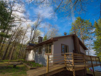Photo for Secluded 5-acre lakefront home w/ private dock & firepit - Dog-friendly!