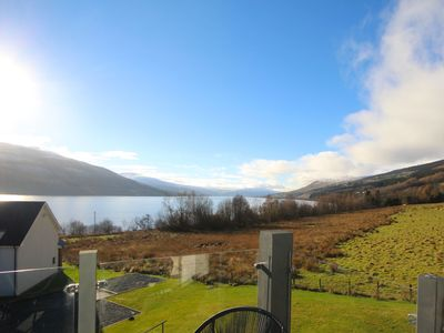 Photo for Loch side holiday home with stunning views