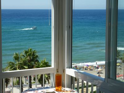 Photo for Stunning beach and sea view from southwest terrace. NERJA (Torrox Costa) WIF