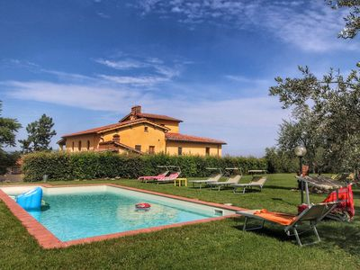 Photo for Attractive apartment in 200 year old farmhouse in the middle of the Chianti region