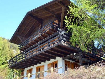 Photo for Outside : flat on the ground floor of a chalet, for 4 persons, with a large covered terrace and gard