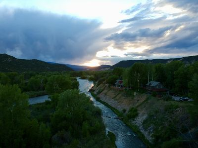 Photo for Incredible Guest House, 5 acres on Roaring Fork River, Skiing, Private Fishing.