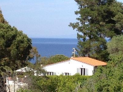 Photo for Spacious Villa with sea view and garden near the beach on the island of Elba