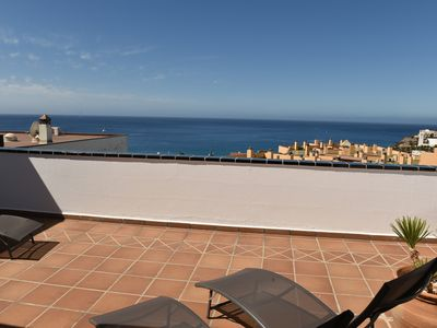 Photo for Duplex 120m2, 200m from the beach, sea and village view