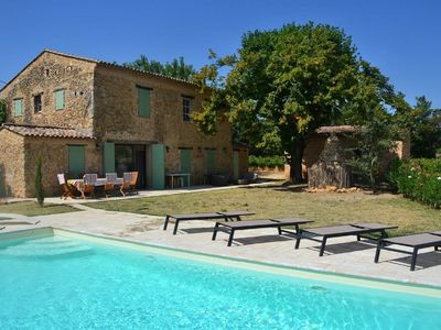 Photo for Mas in the middle of vineyards in Cotignac (Var), sleeps 10