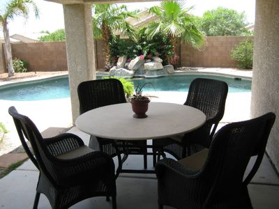 Covered patio.  ClubWolffWest@gmail.com for special promotions.