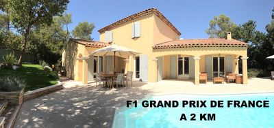 Photo for Large Villa with swimming pool 2 km from the Grand Prix de France F1