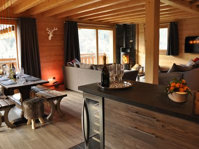 Photo for Stunning Chalet Minutes From Ski Lifts, Access Portes Du Soleil 4* Tourist Award