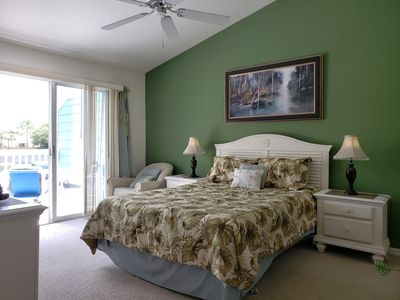 Master Bedroom W/Private Balcony - Great View of Lake