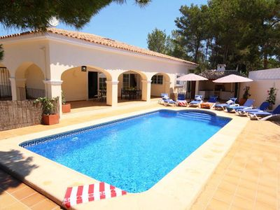 Photo for Beautifully updated, spacious villa situated in a prime location adjacent to Moraira. A short walk t