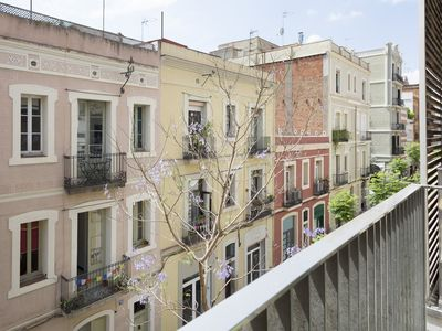 Photo for 6 apartments with terrace & shared poolin the heart of Gràcia for up to 40 pax