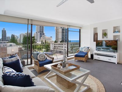 Photo for Wow! Stylish Ocean-View Beachside Apartment