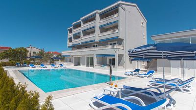 Photo for Modern seaview studio apartment Vista 3 with shared pool EOS-CROATIA