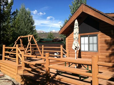 Photo for Breckenridge Tiger Run Resort cozy mountain chalet 1Bd w/ loft and large decks.