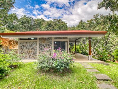 Photo for Relaxing, ground-floor bungalow with beautiful garden views and shared pool.