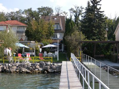 Photo for Holiday apartment directly at Lake Balaton with private boat dock