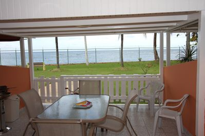 North Terrace...perfect for sharing meals or BBQ with great ocean views.
