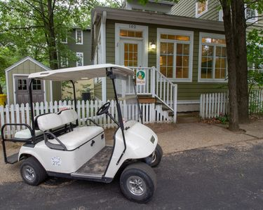 Photo for Ideal Family Getaway Home! 2bed 2bath sleeps 6, golf cart included!