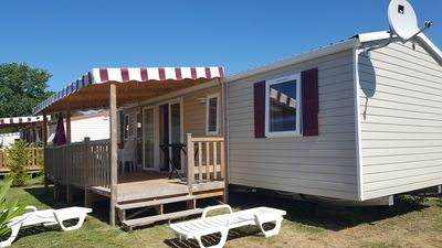 Photo for Mobil Home 6/8 pers on famous holiday village